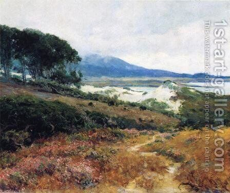 California Poppy Field by Guy Rose - Reproduction Oil Painting