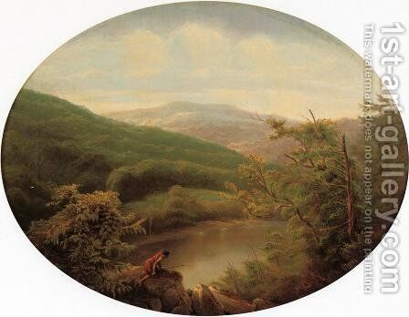 Native American Hunting Scene by Charles Volkmar - Reproduction Oil Painting