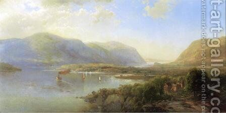 Highlands of the Hudson Near Westpoint by Herman Fuechsel - Reproduction Oil Painting
