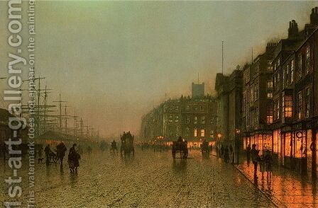 Liverpool from Wapping by John Atkinson Grimshaw - Reproduction Oil Painting
