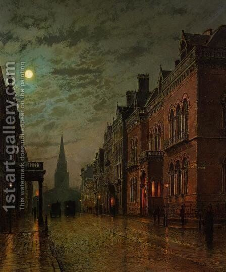 Park Row, Leeds by John Atkinson Grimshaw - Reproduction Oil Painting