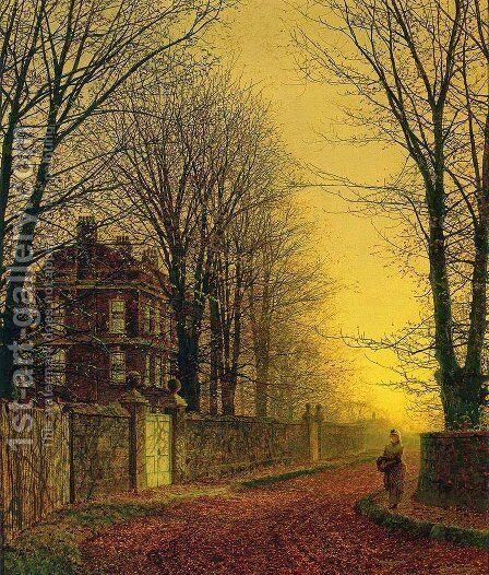 Autumn Gold by John Atkinson Grimshaw - Reproduction Oil Painting