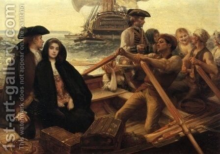 Embarking on a Voyage by Albert Lynch - Reproduction Oil Painting