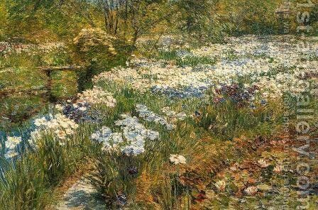 The Water Garden by Frederick Childe Hassam - Reproduction Oil Painting