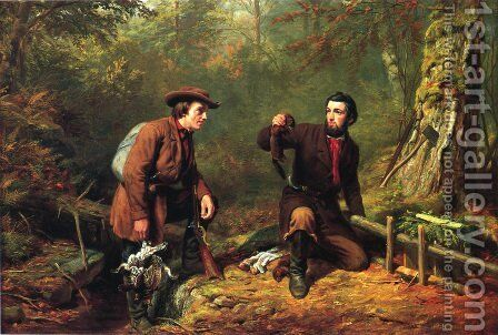 Mink Trapping in Northern New York by Arthur Fitzwilliam Tait - Reproduction Oil Painting
