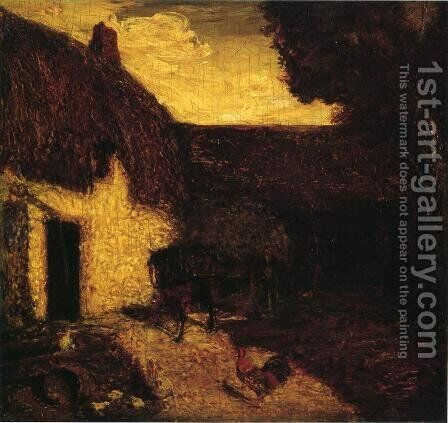 The Barnyard by Albert Pinkham Ryder - Reproduction Oil Painting