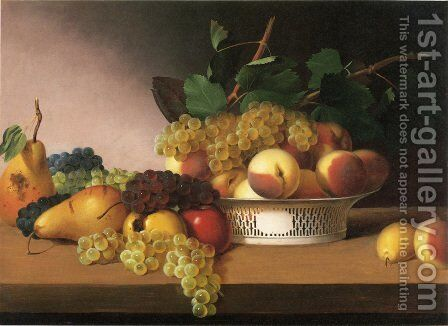Still Life with Fruit II by James Peale - Reproduction Oil Painting