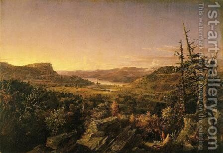 View of Greenwood Lake, New Jersey by Jasper Francis Cropsey - Reproduction Oil Painting