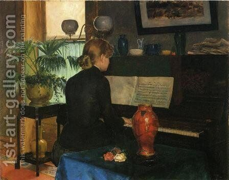 Moment Musicale by Charles Frederick Ulrich - Reproduction Oil Painting