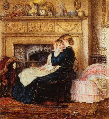 In the Nursery by Helen Mary Elizabeth Allingham, R.W.S. - Reproduction Oil Painting