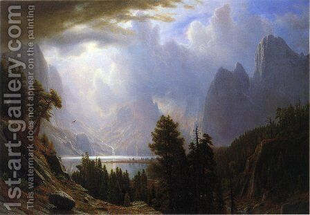 Landscape I by Albert Bierstadt - Reproduction Oil Painting