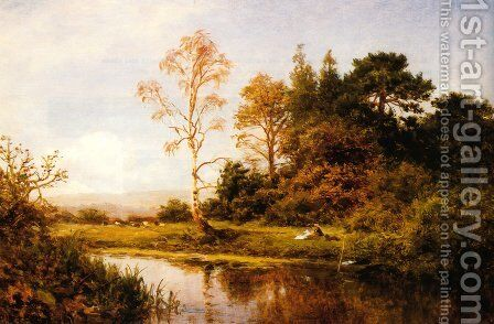 A Fine Autumn Morning by Benjamin Williams Leader - Reproduction Oil Painting