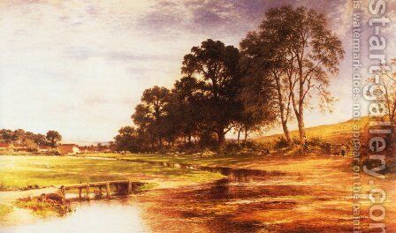 By Mead and Stream by Benjamin Williams Leader - Reproduction Oil Painting