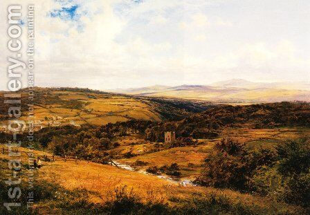 On the Borders of Dartmoor by Benjamin Williams Leader - Reproduction Oil Painting