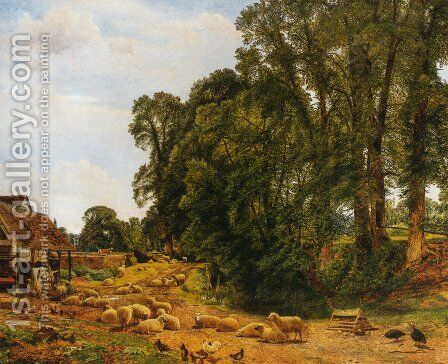 Outskirts of a Farm by Benjamin Williams Leader - Reproduction Oil Painting