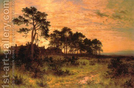 The Silent Evening Hour by Benjamin Williams Leader - Reproduction Oil Painting