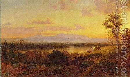Autumn Landscape I by Jasper Francis Cropsey - Reproduction Oil Painting