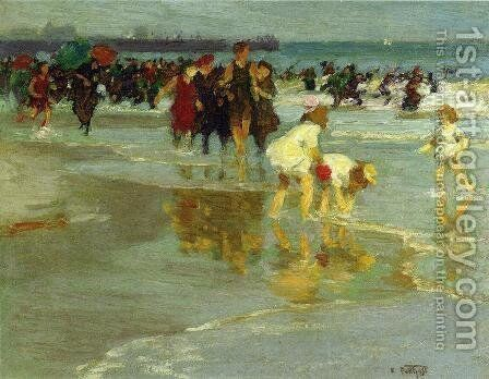 Bathers I by Edward Henry Potthast - Reproduction Oil Painting