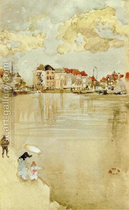 Note in Gold and Silver - Dordrecht by James Abbott McNeill Whistler - Reproduction Oil Painting