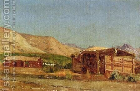 Hamilton's Ranch, Nevada by Jervis McEntee - Reproduction Oil Painting
