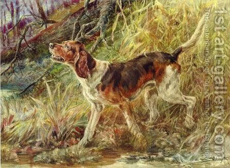 On the Scent I by Edmund Henry Osthaus - Reproduction Oil Painting