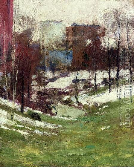 Winter in New York City by Theodore Robinson - Reproduction Oil Painting