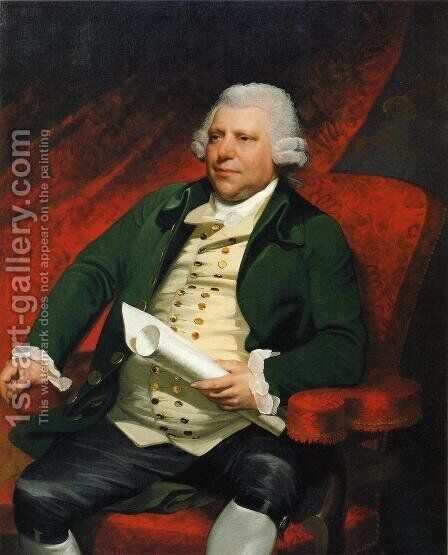 Sir Richard Arkwright by Mather Brown - Reproduction Oil Painting