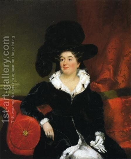 Mrs. Samuel Appleton (Julia Webster) by Chester Harding - Reproduction Oil Painting