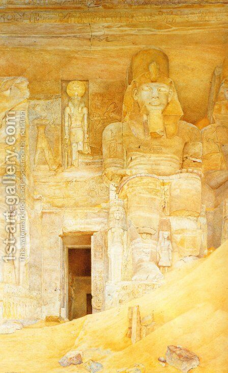 The Temple Door at Abu Simbel by Henry Roderick Newman - Reproduction Oil Painting