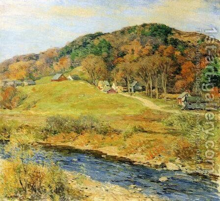 November Mist by Willard Leroy Metcalf - Reproduction Oil Painting