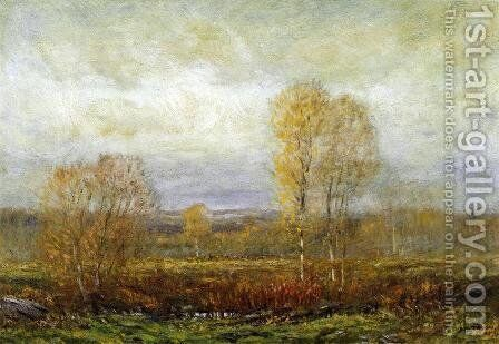 Autumn Day by Dwight William Tryon - Reproduction Oil Painting