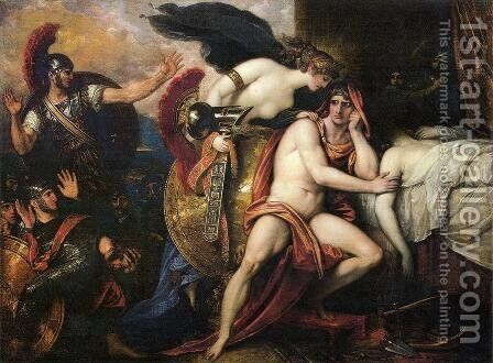 Thetis Bringing the Armor to Achilles I by Benjamin West - Reproduction Oil Painting