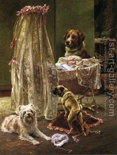 Home Alone, 1899 by Charles H.D. Boland de Spa - Reproduction Oil Painting