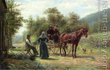 An Informal Call by Edward Lamson Henry - Reproduction Oil Painting