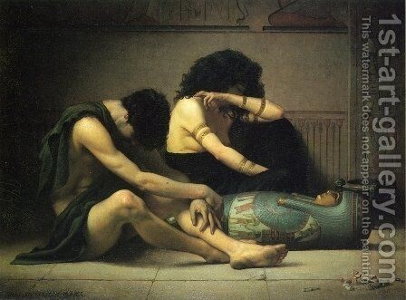 Lamentation Over the Death of the First-Born of Egypt by Charles Sprague Pearce - Reproduction Oil Painting