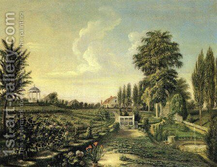 View of the Garden at Belfield by Charles Willson Peale - Reproduction Oil Painting