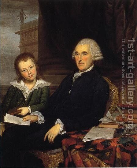 Governor Thomas McKean and His Son, Thomas, Jr. by Charles Willson Peale - Reproduction Oil Painting