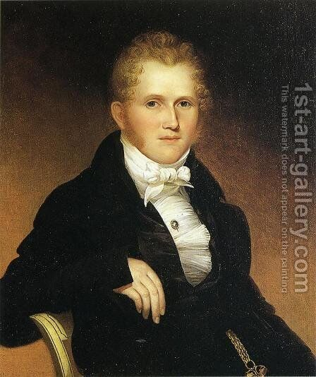 William Young Heberton by James Peale - Reproduction Oil Painting