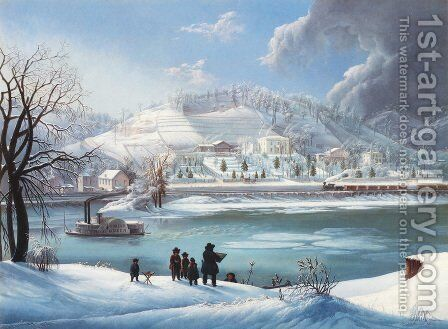 The 'Forest Queen' in Winter by Martin Andreas Reisner - Reproduction Oil Painting