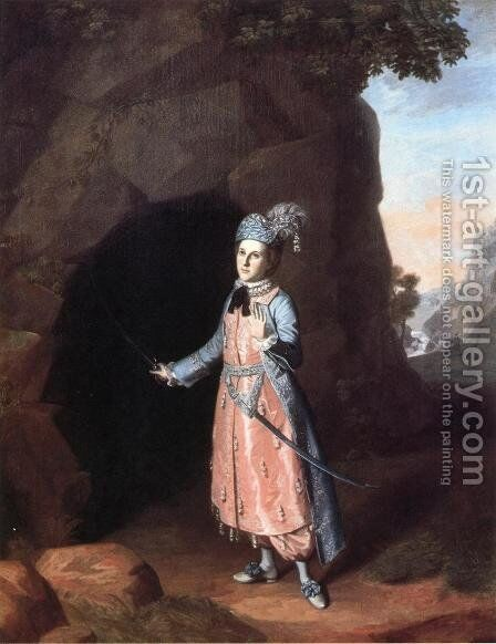 Nancy Hallam as Fidele in Shakespeare's Cymbeline by Charles Willson Peale - Reproduction Oil Painting