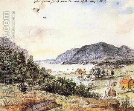 View of West Point from the Side of the Mountain by Charles Willson Peale - Reproduction Oil Painting