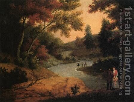 View on the Wissahickon by James Peale - Reproduction Oil Painting