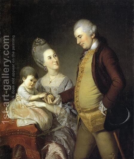 John Cadwalader Family by Charles Willson Peale - Reproduction Oil Painting
