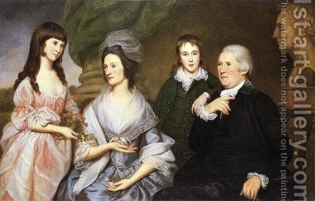 Robert Goldsborough and Family by Charles Willson Peale - Reproduction Oil Painting