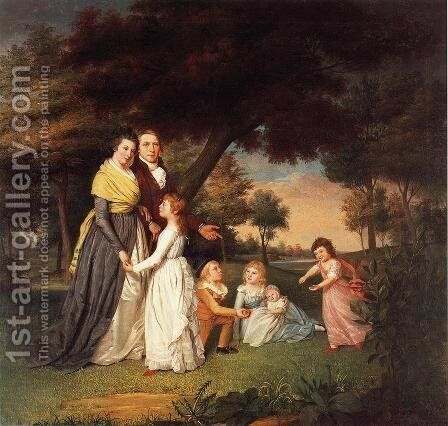 The Artist and His Family by James Peale - Reproduction Oil Painting
