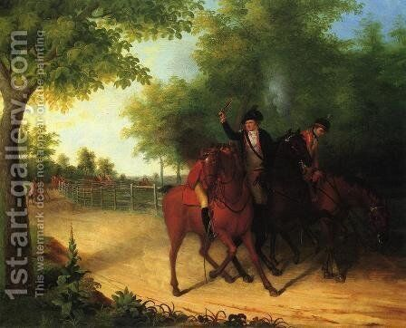 The Ambush of Captain Allan Mclane by James Peale - Reproduction Oil Painting