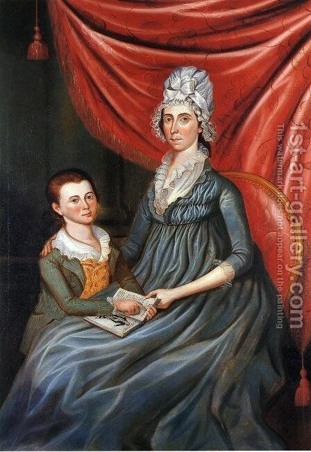 Eleanor Conway Hite and Son, James Madison Hite by Charles Peale Polk - Reproduction Oil Painting