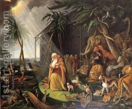 Noah and His Ark (after Charles Catton) by Charles Willson Peale - Reproduction Oil Painting