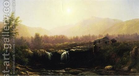 The Old Mill by Homer Dodge Martin - Reproduction Oil Painting