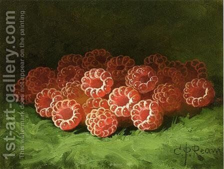 Still Life with Raspberies by Carducius Plantagenet Ream - Reproduction Oil Painting